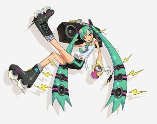 Having fun with Hatsune Miku by semsei