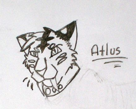 Atlus Head shot for Fire by DarkChasmWolf