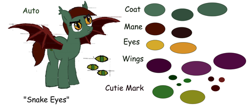 Auto the Thestral Ponysona by DragonEmerald98