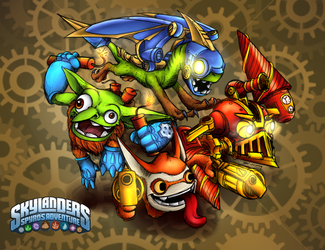 Tech Skylanders-COLORED by PPGxRRB-FAN