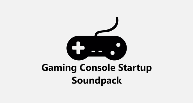 Video Game Consoles Startup Soundpack by MinderiaYoutuber