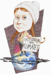 Greta Thunberg by toongsteno