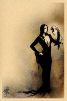 Warmups: Morticia Addams by psychosako