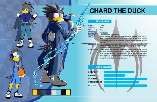 BIO Chard the Duck by Dogwhitesector