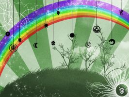 ::Rainbow Room Wallpaper:: by taria