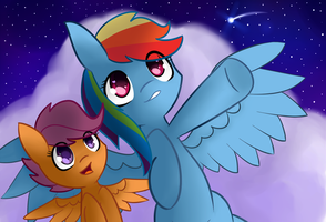 Gazing Upon The Stars by IBacchStudios