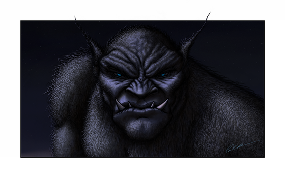 The Black Ogre of Genetrix Wallpaper by paulrich
