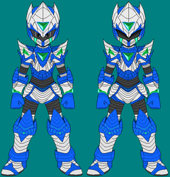 Cyber Knight Justice full frontal view by axem-slayer-345