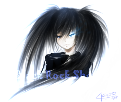 Black Rock Shooter    Point Commission. by Akeita