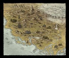 Small Fantasy Map by Djekspek