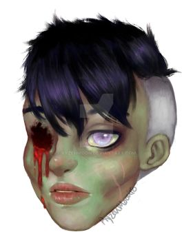 Frankenstein Zombie Head 2 by RyzenMoon
