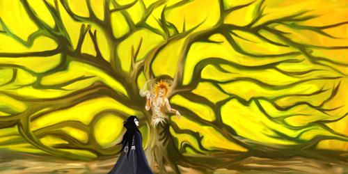 The Dryad of the Darkwoods and The Mortal Villager by Silver666Tongue