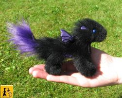 Baby Pet Dragon doll black purple by Jerseydays