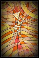 oldpaintingrevisited abstract lines white triangle by santosam81