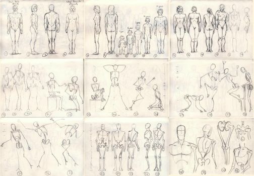 1000 anatomy sketches challenge: 1 - 42 by Xrxlxs