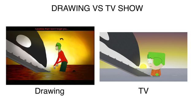Drawing VS TV Meme by Storm-feather456