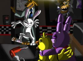 Five Nights of Sam and Max by HommicidalPenguinsCo