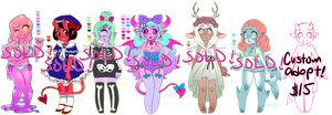 Even More Monster Girl Adoptables CLOSED! by rap1993
