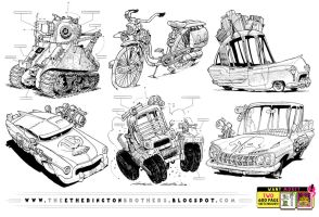 SIX WEIRD VEHICLE REFERENCES! by STUDIOBLINKTWICE