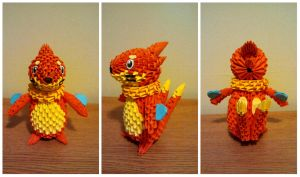 3D Origami Buizel by pokegami