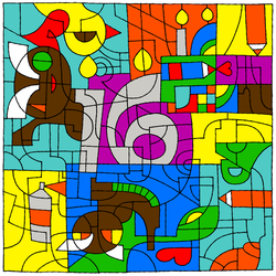 The 16th Birthday Coloring Challenge by Saiyoe