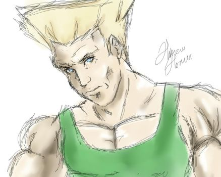 Guile sketch by Art-by-Hakeem