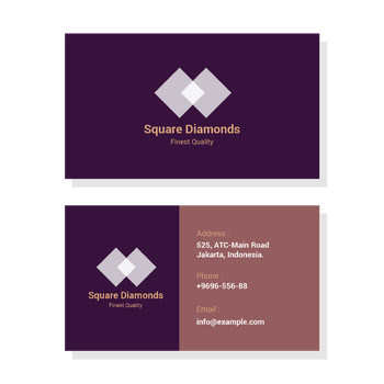 Square Diamonds Visiting Card Design by stb888