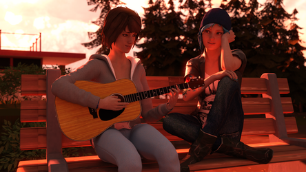 Happy birthday Hannah Telle and Max Caulfield  by TheArcadian0125