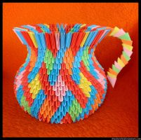 Origami vase with ear by blackwild