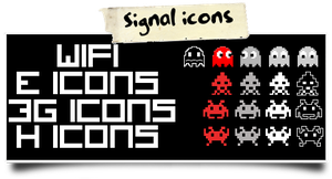 Pixel Signal Icons by babil0n