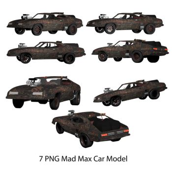 7 PNG Mad Mox Model Car Fury Road by conservancy