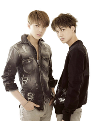 Kai and Sehun (EXO) [PNG Render] by ByMadHatter