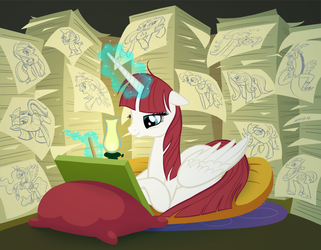 Fausticorn Sketching by empty-10