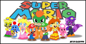 HTF- The Super Mario Family :RQ: by Elica1994