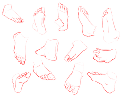 Feet Practice by AOKStudio