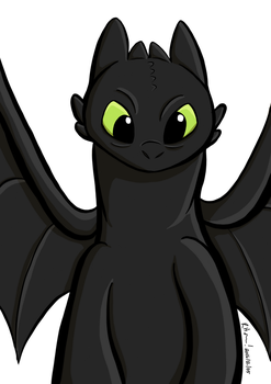 Toothless by HornCartoons