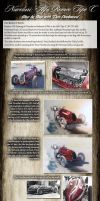 Tutorial in Oils: Alfa Romeo Tipo C by donpackwood