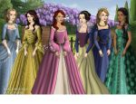 Disney Princesses, Tudor Style! by zozelini