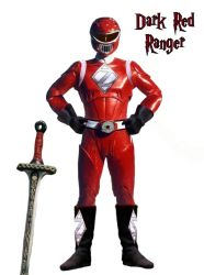 Dark Red Ranger by everyfaces