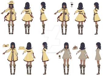 CM48 - Character Design 97 - Reference Sheet by Stellatiria