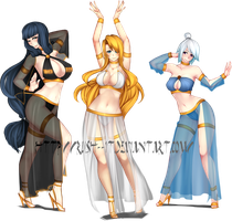 Commissioned!! Harem Trio by ThePlushieLady