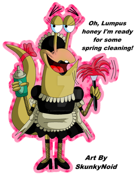 Camp Lazlo - French Maid Slinkman by SkunkyNoid