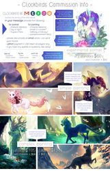 2017/18 commission info [CLOSED] by clockbirds