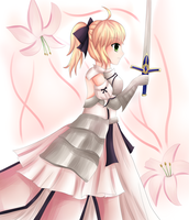 Saber Lily by shinyskymin