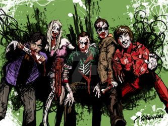 Bazinga, Zombies! by conorsully