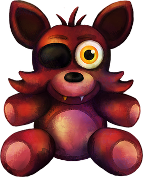 Five Nights at Freddy's FNaF4 Foxy Plush by kaizerin