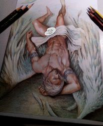 Master with angel wings, Finish!! by aenaluck