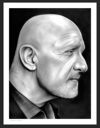 Mike Ehrmantraut on Breaking Bad by gregchapin