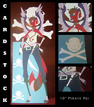 Cardstock Cutouts- Pirate Rei by chaoticdreamer