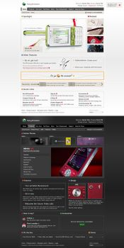 SONY Ericsson Website by daemonumbrae